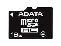 A-Data microSDHC 16 GB + SD-Adapter - Class 4