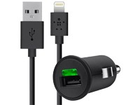 Belkin USB Kfz-Adapter + Lightningdatenkabel black 2,1 A