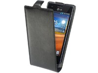 Ancor Slim FlipCase alu-gebürstet black für LG E610 Optimus L5