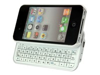 Schiebe Bluetooth Tastatur QWERTZ white für iPhone 4S