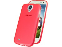 TPU Case transparent-red für Samsung I9500, I9505 Galaxy S4
