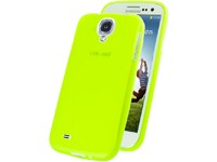 TPU Case transparent-green für Samsung I9500, I9505 Galaxy S4