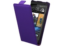 Ancor Premium Leder-FlipCase purple für HTC One