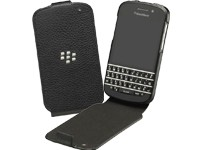 BlackBerry Leder Flip Cover ACC-50707-201 black für Q10