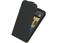 Ancor Premium Leder-FlipCase black für HTC One (M7)