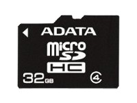 A-Data microSDHC 32 GB + SD-Adapter - Class 4