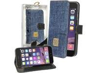 Qiotti 2 in 1 Denim Folio Leather Case blue für Apple iPhone 6