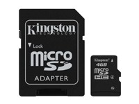 Kingston MicroSDHC 4GB inkl. SD-Adapter / Class 4