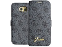 Guess 4G Leather Case grey für Samsung G920F Galaxy S6