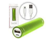 Power-Bank Mobiler USB-Ersatzakku green 2600 mAh Blister
