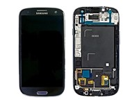 original Full-Set (A-Cover + LCD + Toucheinheit) blue für Samsung I9300 Galaxy S3 - GH97-13630A