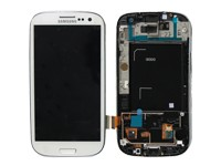 original Full-Set (A-Cover + LCD + Toucheinheit) white für Samsung I9300 Galaxy S3 - GH97-13630B