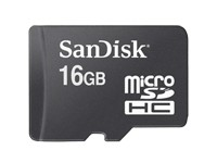 MicroSDHC SanDisk Multimediakarte Class 4 - 16GB ohne SD-Adapter